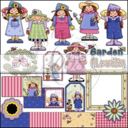 Whimsical Garden Girls Collection 1