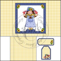 Whimsical Garden Girl Warm Delights Cover Set