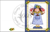 Whimsical Garden Girl Card