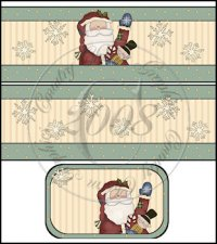 Happy Santa International Coffee Tin Cover Set
