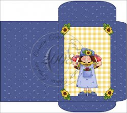 Whimsical Garden Girl Cocoa / Soup / Seed Packet