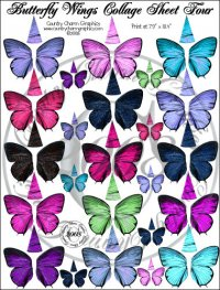 Butterfly Wings Collage Sheet 4