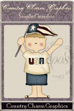 USA Boy Single Graphic Set