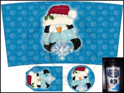 Snowflake Penguin Dollar Tree Travel Mug Set