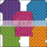 Bright Funky Flowers Gift Card Sleeve Collection
