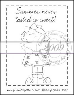 Summer Never Tasted So Sweet Line Art & Pattern Single