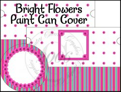 Bright Flowers Paint Can