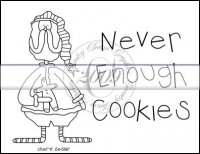 Never Enough Cookies Line Art & Pattern Single