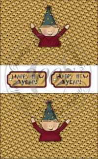 Happy New Year Boy Sour Cream Packets