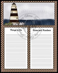 Lighthouse To Do Sheet