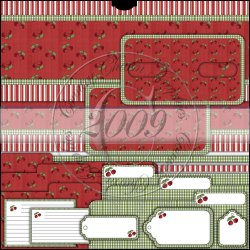 Red Cherries Tin Box Cover Set (Top Open)