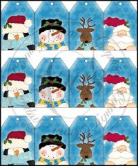 Winter Faces Sheet Tags