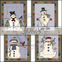 Quilted Snowpeople Card Collection