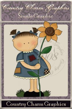 Wee Folk Sunflower Girl Single Graphic Set
