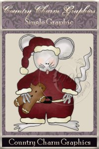 Santa Mouse Single Graphic Set