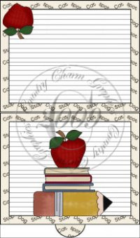School Days Folding Notecard