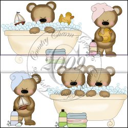 Bear Bath Time Mini Collection