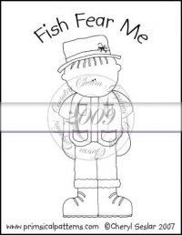 Fish Fear Me Line Art & Pattern Single