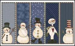 Silly Snowmen Bookmark Sheet