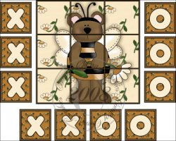 Bumble Bear Tic Tac Toe Game Set