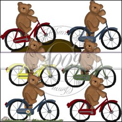 Bicycle Teddies Mini Collection