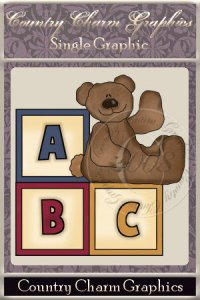 A B C Bear Single Graphic Set
