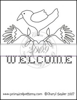 Welcome Line Art & Pattern Single