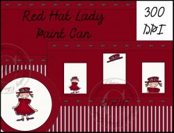 Red Hat Lady Paint Can Cover