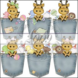 Baby Giraffe Pockets Mini Collection