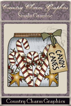 Candy Cane Jar Single Graphic Set