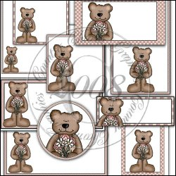 Flower Teddy Print Pack