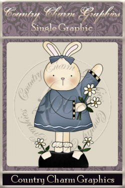 Flower Bunny Single Graphic Set