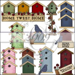 Pretty Birdhouses Mini Collection
