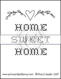 Home Sweet Home Line Art & Pattern Single