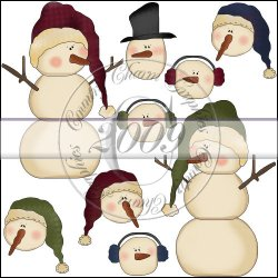 Prim Snowman Mini Collection