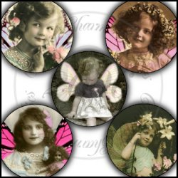 Vintage Butterfly Beauties Bottle Cap Inserts