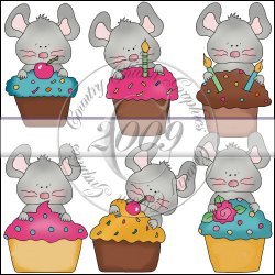 Cupcake Mice Mini Collection
