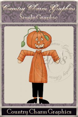 Dress-up Jack O' Lantern Single Graphic Set