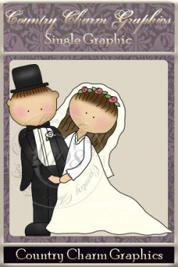 Wee Folk Wedding Single Graphic Set 1