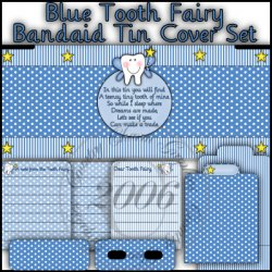 Tooth Fairy Bandaid Tin Cover Set (Blue)