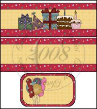 Birthday Wishes International Coffee Tin Cover Set