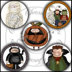 Trick or Treat Fun Bottle Cap Inserts