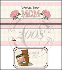 Worlds Best Mom International Coffee Tin Cover Set