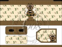 Bumble Bear Bandaid Tin Cover Set