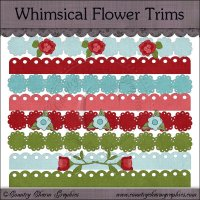 Whimsical Flower Trims Mini Collection