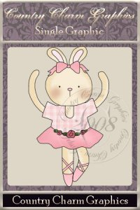 Ballerina Bunny Single Graphic Set