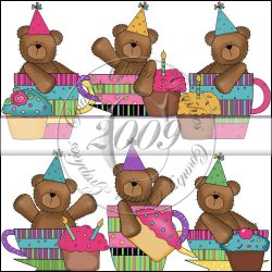 Birthday Bears Cups & Cupcakes Mini Collection