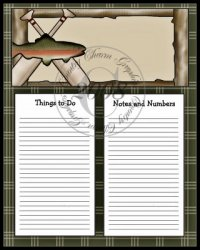 Fish & Oars To Do Sheet
