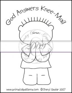 God Answers Knee Mail Line Art & Pattern Single