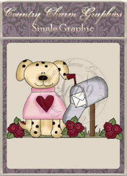 Valentine Dog Single Graphic Set